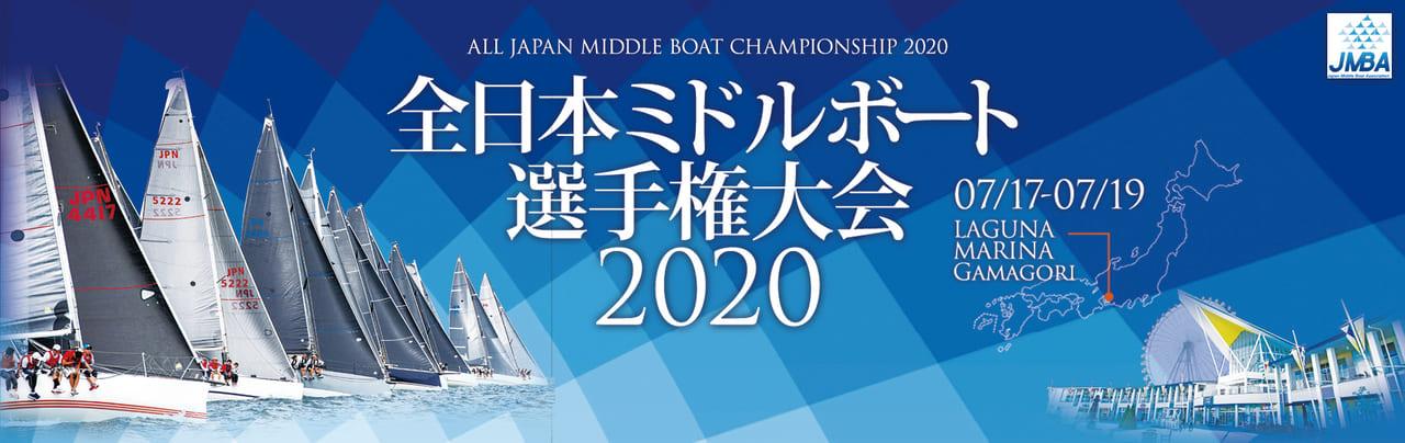 全日本ミドルボート選手権大会2020のバナー
